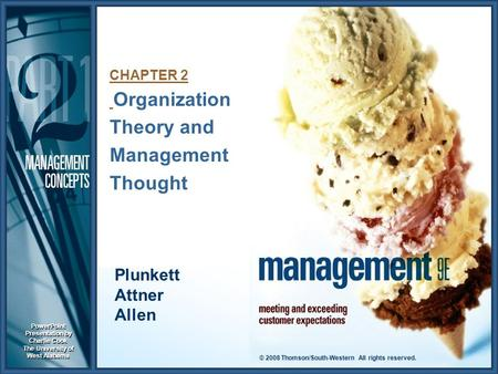 CHAPTER 2 Organization Theory and Management Thought
