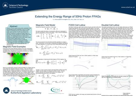 Poster reference: FR5PFP025 Extending the Energy Range of 50Hz Proton FFAGs S.J. Brooks RAL, Chilton, OX11 0QX, UK Magnetic.