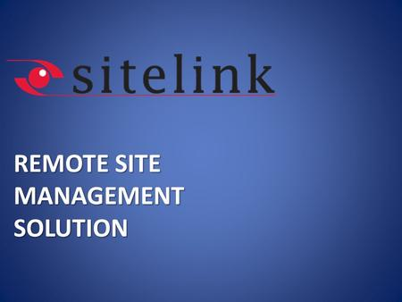 REMOTE SITE MANAGEMENT SOLUTION. AGENDA 2  About KoçSistem  Current Situation in Base Stations  Remote Site Management System: Sitelink  Sitelink.