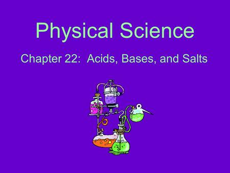 Chapter 22: Acids, Bases, and Salts