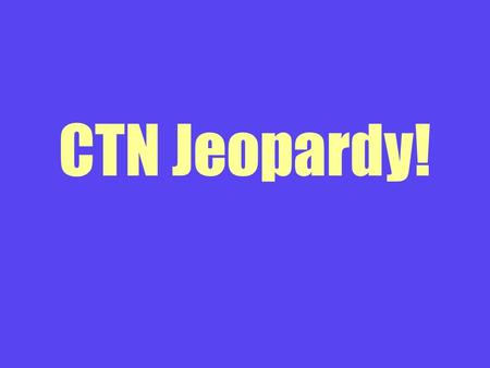 CTN Jeopardy!. First Round Vocabulary 100 The analysis and structure of words that can be broken down into chunks for meaning.