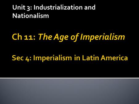 Unit 3: Industrialization and Nationalism. Early Conflicts  Independence from Spain – 1821  Under rule of Antonio de Santa Anna (1833-1855)  Benito.