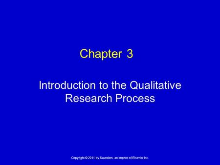 Introduction to the Qualitative Research Process