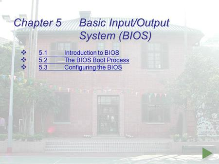 Chapter 5 Basic Input/Output System (BIOS)
