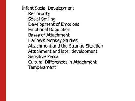 Infant Social Development