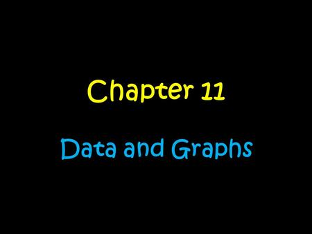 Chapter 11 Data and Graphs. Day….. 1.No SchoolNo School 2.Types of GraphsTypes of Graphs 3.Dot PlotsDot Plots 4.HistogramsHistograms 5.Box and Whisker.