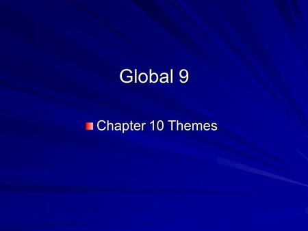 Global 9 Chapter 10 Themes. Religious and Ethical Systems Islam – a monotheistic religion that developed in Saudi Arabia during the 600s; founded by Muhammad;