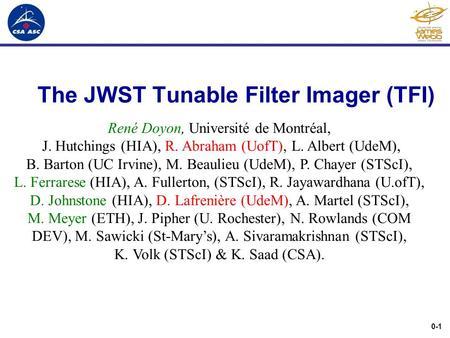 Non-redundant masking on JWST TFI Anand Sivaramakrishnan