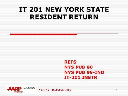 1 Ny 3 New York Training 2010 Ny Credits Nys Pub 99 Ind Individual