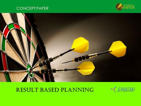 CONCEPT PAPER RESULT BASED PLANNING. RESULT-ORIENTED PLANNING Overall Objective/ Goal Specific Objective/ Purposes Expected Result/ Output Activities.