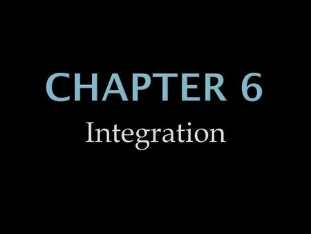 Integration. Antiderivatives and Indefinite Integration.