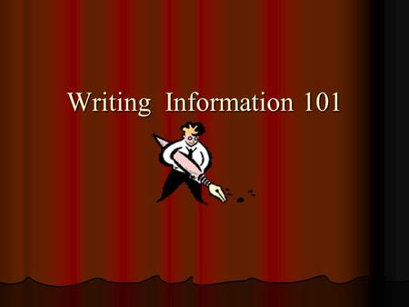 Writing Information 101 Paragraphs A paragraph is a group of sentences that presents a main idea and related details to a reader. A paragraph is a group.