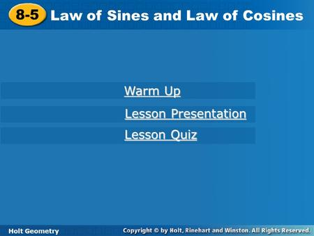 8 6 The Law Of Sines And Law Of Cosines Ppt Download