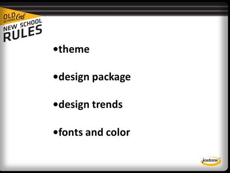 Theme design package design trends fonts and color.