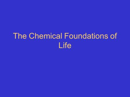 The Chemical Foundations of Life. Element vs. molecule Ionic bond vs. covalent bond Polar vs. nonpolar Hydrogen bond vs. van der Waals force Hydrophilic.