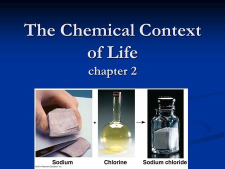 The Chemical Context of Life chapter 2. 2 Energy & Matter Universe is composed of 2 things …… Universe is composed of 2 things …… Energy Energy  Ability.