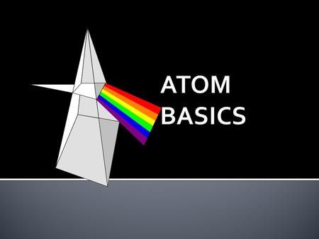 Atoms are building blocks of elements Similar atoms in each element Different from atoms of other elements Two or more different atoms bond in simple.