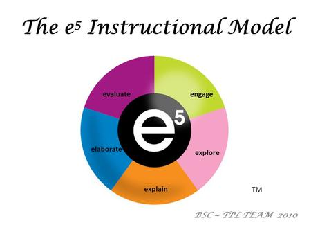 The e5 Instructional Model