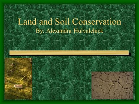 Land and Soil Conservation By: Alexandra Hulvalchick