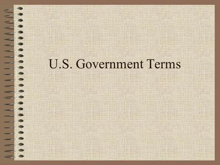 U.S. Government Terms.