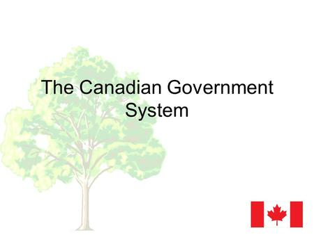The Canadian Government System