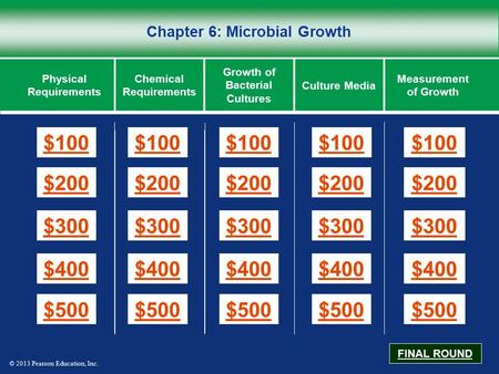 Chapter 6: Microbial Growth