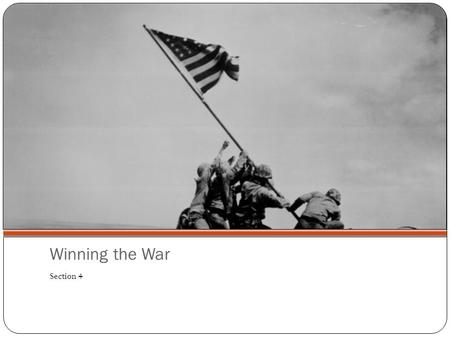 Winning the War Section 4. Words to Know Holocaust: The mass murder of millions of Jews by the Nazis Genocide: The planned murder of an entire people.
