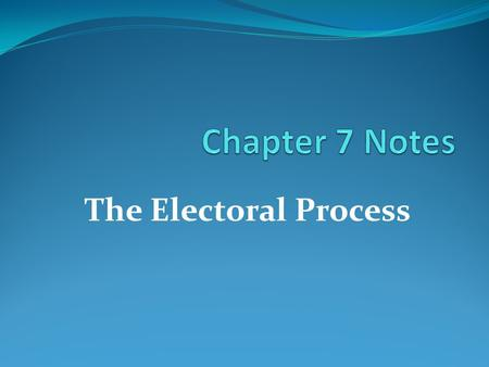 The Electoral Process. Week 3 Vocab Definitions - A unit into which cities are often divided for the election of city council members. - A procedure of.