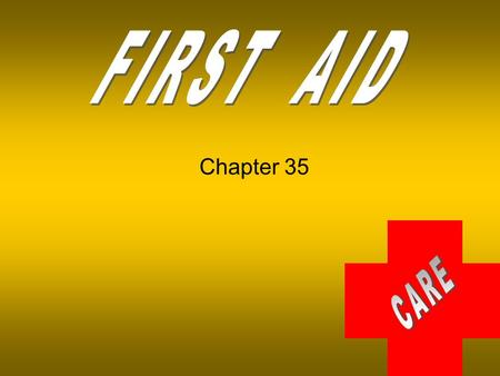 FIRST AID Chapter 35.