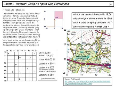 Coasts Mapwork Skills 4 Figure Grid References