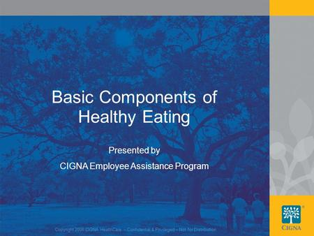 Basic Components of Healthy Eating