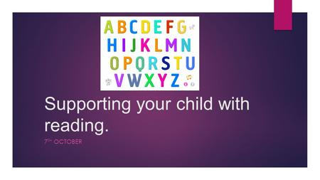 Supporting your child with reading.