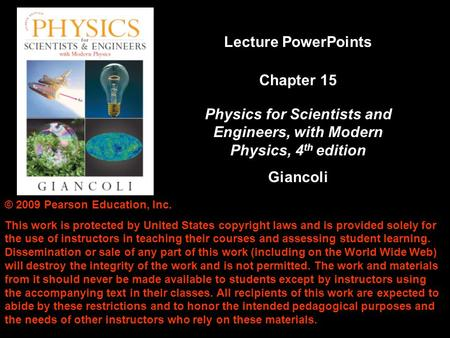 Physics for Scientists and Engineers, with Modern Physics, 4th edition
