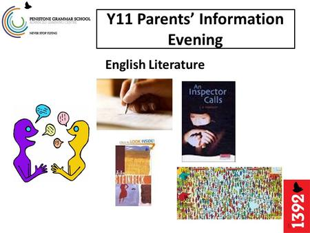 Y11 Parents' Information Evening English Literature.