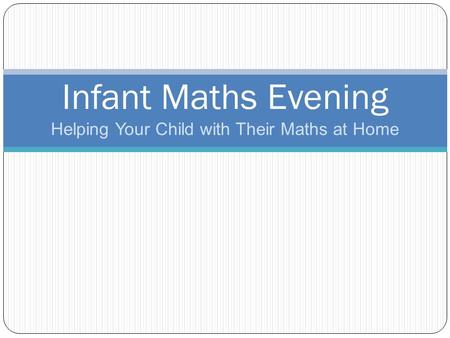 Helping Your Child with Their Maths at Home