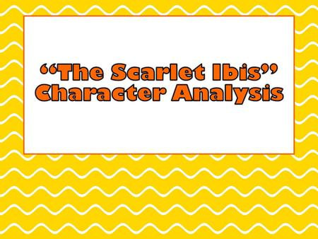 Assignment Write a three paragraph character analysis paper. Choose which character you want to analyze: Doodle or Brother. Once you have chosen a character,