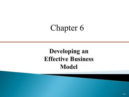 Developing an Effective Business Model