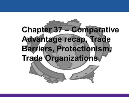 International Trade McGraw-Hill/Irwin Copyright © 2012 by The McGraw-Hill Companies, Inc. All rights reserved. Chapter 37 – Comparative Advantage recap,