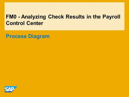 FM0 - Analyzing Check Results in the Payroll Control Center Process Diagram.