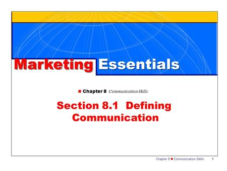 Section 8.1 Defining Communication
