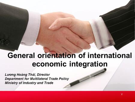 General orientation of international economic integration