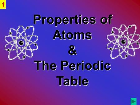 Properties of Atoms & The Periodic Table.