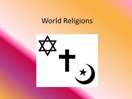 World Religions. Judaism Jews believe in one god. Their holy book is called the Torah which consists of Genesis, Exodus, Numbers, Leviticus, and Deuteronomy.
