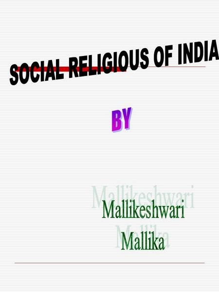During the 19th Century there were attempts to follow the example <strong>of</strong> the West in religion and in social and political reform. Educated India became growingly.