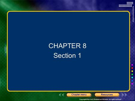 CHAPTER 8 Section 1.