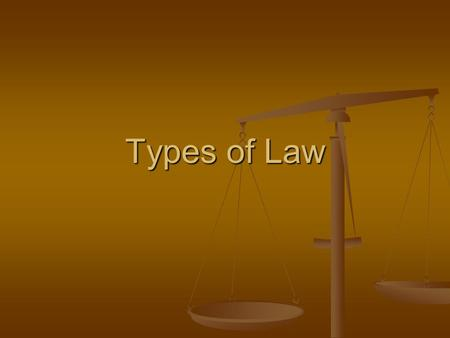 Types of Law.