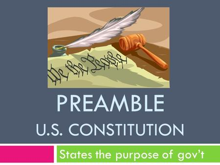 PREAMBLE U.s. Constitution