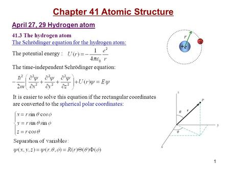 Chapter 41 Atomic Structure