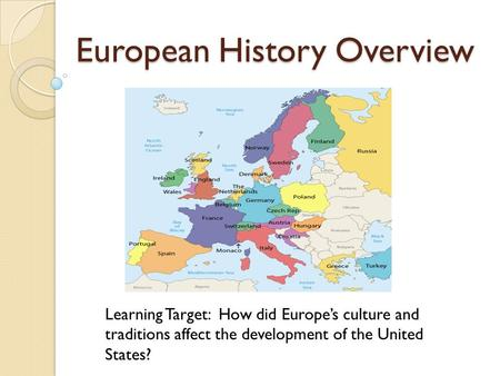 European History Overview