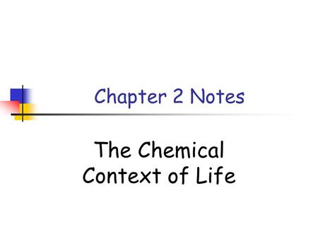 Chapter 2 Notes The Chemical Context of Life. Concept 2.1 Organisms are composed of matter: anything that takes up space or has mass Element: a substance.